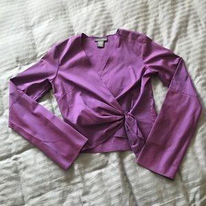 NWOT Banana republic iridescent wrap top Size xs